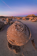 A picture of the Cracked Eggs Rock formation in the Bisti Badlands in New Mexico<br />