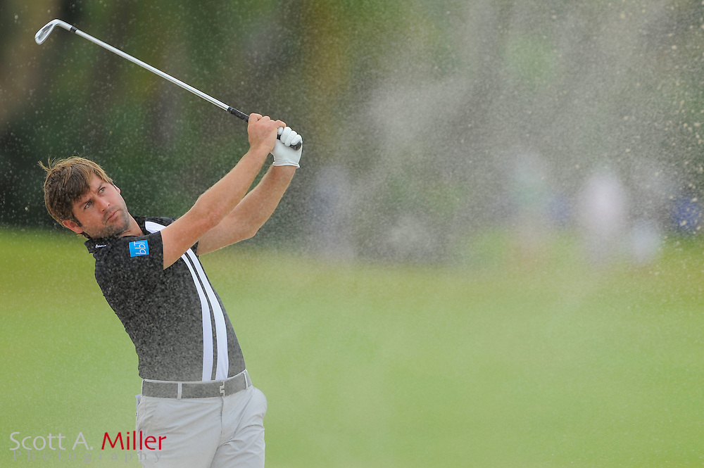 Robert Rock during the first round of the World Golf Championship Cadillac Championship on the TPC Blue Monster Course at Doral Golf Resort And Spa on March 8, 2012 in Doral, Fla. ..©2012 Scott A. Miller.