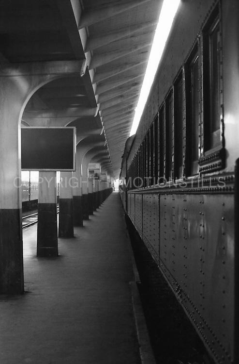 San Francisco Street and Trains 1972