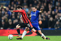 December 20, 2017 - London, England, United Kingdom - Chelsea Midfielder Danny Drinkwater tackles Bournemouth's Adam Smith during the Carabao Cup Quarter - Final match between Chelsea and AFC Bournemouth at Stamford Bridge, London, England on 20 Dec 2017. (Credit Image: © Kieran Galvin/NurPhoto via ZUMA Press)