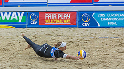 29.07.2015, Strandbad, Klagenfurt, AUT, A1 Beachvolleyball EM 2015, im Bild Marleen Van Iersel 1 NED // during of the A1 Beachvolleyball European Championship at the Strandbad Klagenfurt, Austria on 2015/07/29. EXPA Pictures © 2015, EXPA Pictures © 2015, PhotoCredit: EXPA/ Mag. Gert Steinthaler