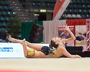 Ana Luiza Filiorianu from Udinese team during the Italian Rhythmic Gymnastics Championship in Bologna, 9 February 2019.
