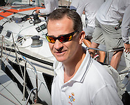 Palma de Mallorca, 06-08-2016<br /> <br /> King Felipe attend with his team Aifos the last day of the Copa del Rey sailing contest at the Bay of Palma de Mallorca.<br /> <br /> <br /> Royalportraits Europe/Bernard Ruebsamen