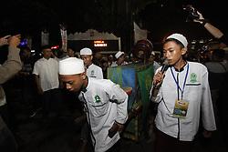 June 14, 2018 - Bogor, West Java, Indonesia - Participants in Bogor Bertakbir doing takbir around the city on the road of Juanda Bogor, West Java, Indonesia to welcome Eid Al-Fitr. (Credit Image: © Adriana Adinandra/Pacific Press via ZUMA Wire)