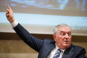 Rome oct 15,2015, two senators suspended for  offensive gestures to female colleagues attends to press conference to explain their facts version. In the picture Vincenzo D'Anna