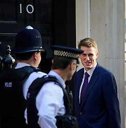 © Licensed to London News Pictures. 13/09/2016. London, UK.  Chief Whip (Parliamentary Secretary to the Treasury) GAVIN WILLIAMSON MP arrives at 10 Downing Street in London for cabinet meeting on September 13, 2016. Photo credit: Ben Cawthra/LNP