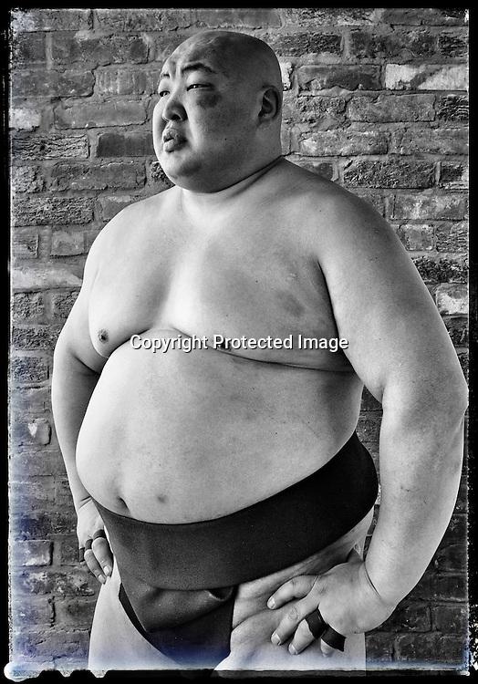 """Sumo-wrestler Byambajav """"Byamba"""" Ulambayar, Washington DC, 2016."""