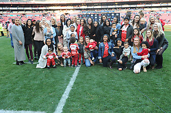 28-07-18 Emirates Airline Park, Johannesburg. Super Rugby semi-final Emirates Lions vs NSW Waratahs. The Lions wives, partners and family pose for a group photo..<br />  Picture: Karen Sandison/African News Agency (ANA)