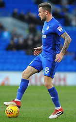 Joe Ralls of Cardiff City in action- Mandatory by-line: Nizaam Jones/JMP - 17/02/2018 -  FOOTBALL - Cardiff City Stadium - Cardiff, Wales -  Cardiff City v Middlesbrough - Sky Bet Championship