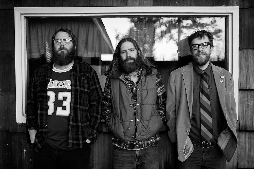 Megafaun; Brad Cook, Joe Westerlund, Phil Cook in Durham, N.C., 2010.