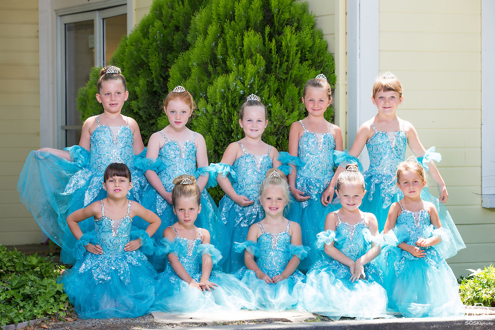 The Dance Company of Los Gatos students pose for their recital portraits during Photo Day at The Dance Company of Los Gatos in Los Gatos, California, on June 12, 2014. (Stan Olszewski/SOSKIphoto)