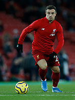 Football - 2019 / 2020 Premier League - Liverpool vs. Everton<br /> <br /> Xherdan Shaqiri of Liverpool starts for tonight's game, at Anfield.<br /> <br /> COLORSPORT/ALAN MARTIN