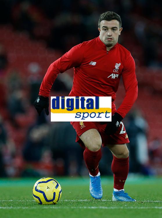 Football - 2019 / 2020 Premier League - Liverpool vs. Everton<br /> <br /> Xherdan Shaqiri of Liverpool starts for tonight's game, at Anfield.<br /> <br /> COLORSPORT/ALAN MARTIN