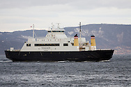 M/F Trondheim (1992) 155 car capacity - one out of three ferrys which covers the distance Flakk-Roervik..M/F Trondheim er en av ferjene som trafikkerer strekningen Flakk-Rørvik. Ferjen har kapasitet på 155 biler og er bygget i 1992.