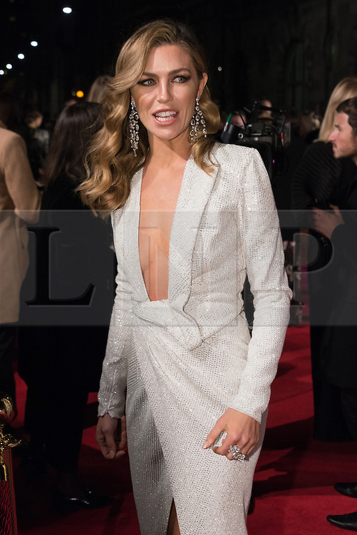© Licensed to London News Pictures. 05/12/2016. ABIGAIL CLANCY arrives for The Fashion Awards 2016 celebrating the best of British and international fashion. London, UK. Photo credit: Ray Tang/LNP