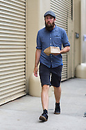 Denim Cap and Shirt, Outside NYFWM Day 3