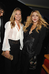 Left to right, KATE MOSS and COURTNEY LOVE at a party to celebryate the launch of the Spring Summer 2008 adidas collection by Stella McCartney held at the Westway Sports Centre, off Latimer Road, London W10 on 20th September 2007.<br />
