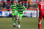 Forest Green Rovers Chris Clements(22) during the EFL Sky Bet League 2 match between Accrington Stanley and Forest Green Rovers at the Wham Stadium, Accrington, England on 17 March 2018. Picture by Shane Healey.