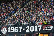 ALKMAAR - 16-02-2017, AZ - Olympique Lyon, AFAS Stadion, 1-4, spandoek.