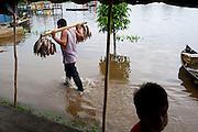Flooded Fish Market - Puerto Narino - Amazonas - Colombia
