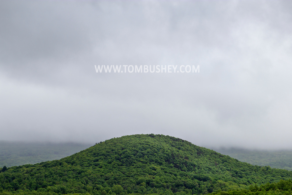 Blooming Grove, New York - A view of Round Hill on a cloudy spring day, May 19, 2013.