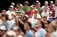 Phil Mickelson of the USA hits his tee shot on the 8th hole during the final round of The Players golf tournament on the TPC Sawgrass Stadium Course in Ponte Vedra Beach, Florida, 13 May 2007. Mickelson was 11 under 277