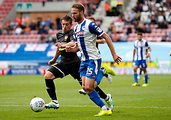 Wigan Athletic's Nick Powell takes on Craig Jones of Bury - Mandatory by-line: Matt McNulty/JMP - 13/08/2017 - FOOTBALL - DW Stadium - Wigan, England - Wigan Athletic v Bury - Sky Bet League One
