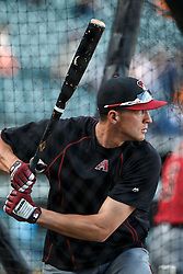 SAN FRANCISCO, CA - APRIL 18: Nick Ahmed #13 of the Arizona Diamondbacks warms up during batting practice before the game against the San Francisco Giants at AT&T Park on April 18, 2016 in San Francisco, California. The Arizona Diamondbacks defeated the San Francisco Giants 9-7 in 11 innings.  (Photo by Jason O. Watson/Getty Images) *** Local Caption *** Nick Ahmed