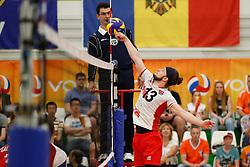 20170525 NED: 2018 FIVB Volleyball World Championship qualification, Koog aan de Zaan<br />Maximilian Thaller (13) of Austria<br />©2017-FotoHoogendoorn.nl / Pim Waslander