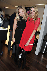 Left to right, POPPY JAMIE and GRETA BELLAMACINA at a party to celebrate the launch of the Casio Tokyo watch in association with Flashtrash.com held at itsu, 10a Blandford Road, London W1 on 28th January 2013.