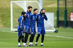 Argentina's Lionel Messi, Federico Fazio, Diego Perotti and Gonzalo Higuain during training - Mandatory by-line: Matt McNulty/JMP - 21/03/2018 - FOOTBALL - Argentina - Training session ahead of international against Italy