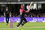 James Hildreth of Somerset goes on the attack during the Royal London 1 Day Cup Final match between Somerset County Cricket Club and Hampshire County Cricket Club at Lord's Cricket Ground, St John's Wood, United Kingdom on 25 May 2019.