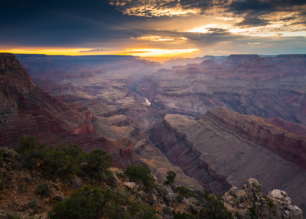 Sunset from Lipan Point on the South Rim of the Grand Canyon.