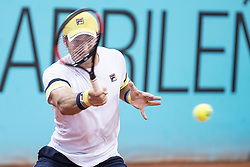 May 8, 2018 - Madrid, Spain - Serbian Dusan Lajovic during Mutua Madrid Open 2018 at Caja Magica in Madrid, Spain. May 08, 2018. (Credit Image: © Coolmedia/NurPhoto via ZUMA Press)