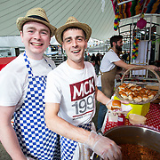 14.06.2018.             <br /> Limerick Food Group hosted the Urban Food Fest street food evening in the Milk Market on Thursday June 14th with a 'Summer Fiesta' theme in one big Limerick city summer party.<br /> <br /> Pictured at the event were, Tom Ford and Colin Shields Ryan, The Strand Hotel. Picture: Alan Place