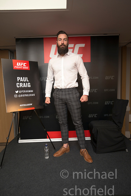 Scot Paul Craig – UFC light heavyweight. UFC FIGHT NIGHT: ULTIMATE MEDIA DAY, Castle, Crowne Plaza Glasgow,