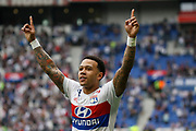 Depay Memphis of Lyon during the French Championship Ligue 1 football match between Olympique Lyonnais and FC Nantes on April 28, 2018 at Groupama Stadium in Décines-Charpieu near Lyon, France - Photo Romain Biard / Isports / ProSportsImages / DPPI