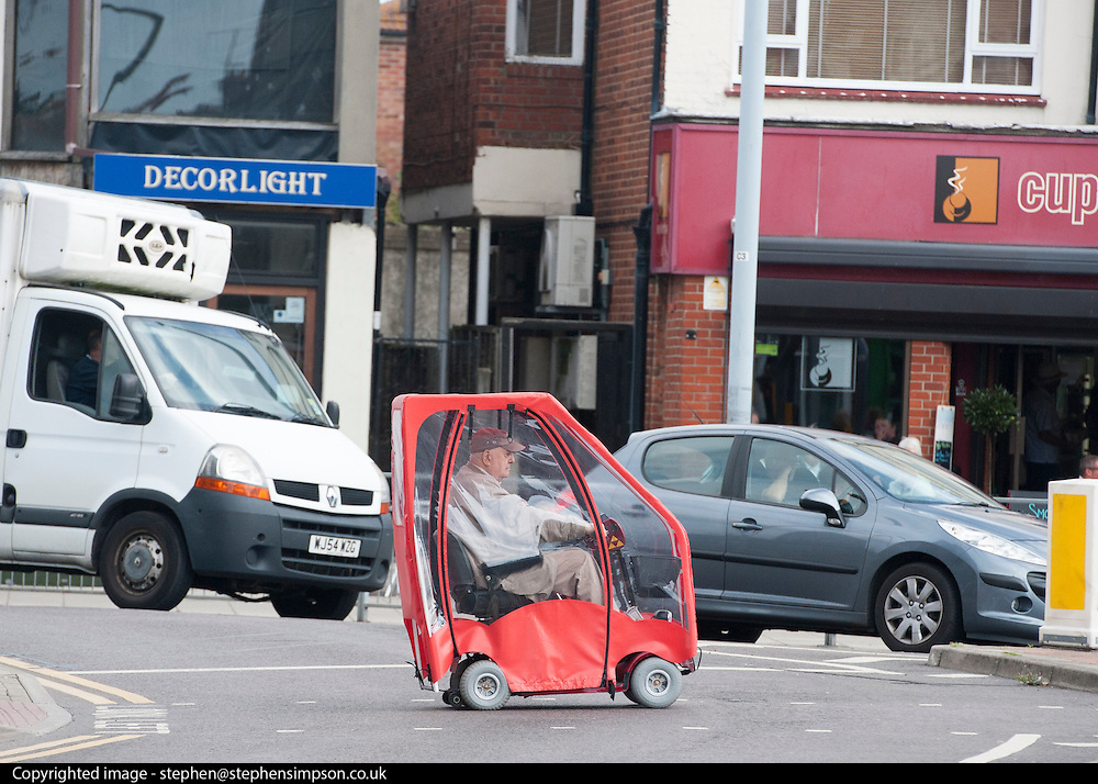 © Licensed to London News Pictures. 29/08/2014. Clacton-on-Sea, UK. General view of Clacton town centre.  Douglas Carswell and Nigel Farage, Leader of the UK Independence Party, UKIP, meet local people on a walk about in Clacton-on-Sea today 29th August 2014. Tory Douglas Carswell  defected to UKIP and quit as MP for Clacton, saying he will contest the subsequent by-election for Nigel Farage's party.. Photo credit : Stephen Simpson/LNP
