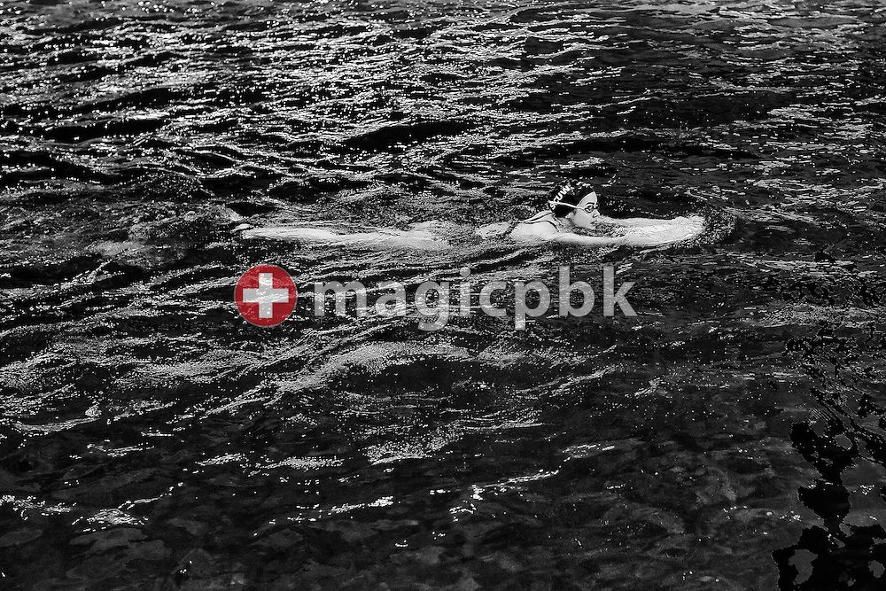 Megan CONNOR of Switzerland is kicking during her cooling down after competing in the women's 50m Freestyle Heats during the Swiss Swimming Championships at the Hallenbad Oerlikon in Zuerich, Switzerland, Sunday, March 13, 2016. (Photo by Patrick B. Kraemer / MAGICPBK)