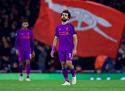 LONDON, ENGLAND - Saturday, November 3, 2018: Liverpool's Mohamed Salah looks dejected as Arsenal score an equalising goal during the FA Premier League match between Arsenal FC and Liverpool FC at Emirates Stadium. (Pic by David Rawcliffe/Propaganda)