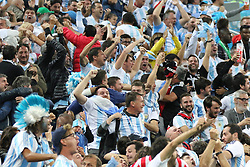 June 26, 2018 - St. Petersburg, Russia - June 26, 2018, Russia, St. Petersburg, FIFA World Cup 2018, First round, Group D, Third round. Football match of Nigeria - Argentina at the stadium of St. Petersburg. Player of the national team viewers; fans; fans; (Credit Image: © Russian Look via ZUMA Wire)