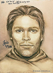 April 17, 2018 - A drawing released by attorney Michael Avenatti shows the man that adult film actress Stormy Daniels says threatened her not to speak out about Trump years earlier in a Las Vegas parking lot in 2011. (Credit Image: ©  Michael Avenatti, esq via ZUMA Wire)