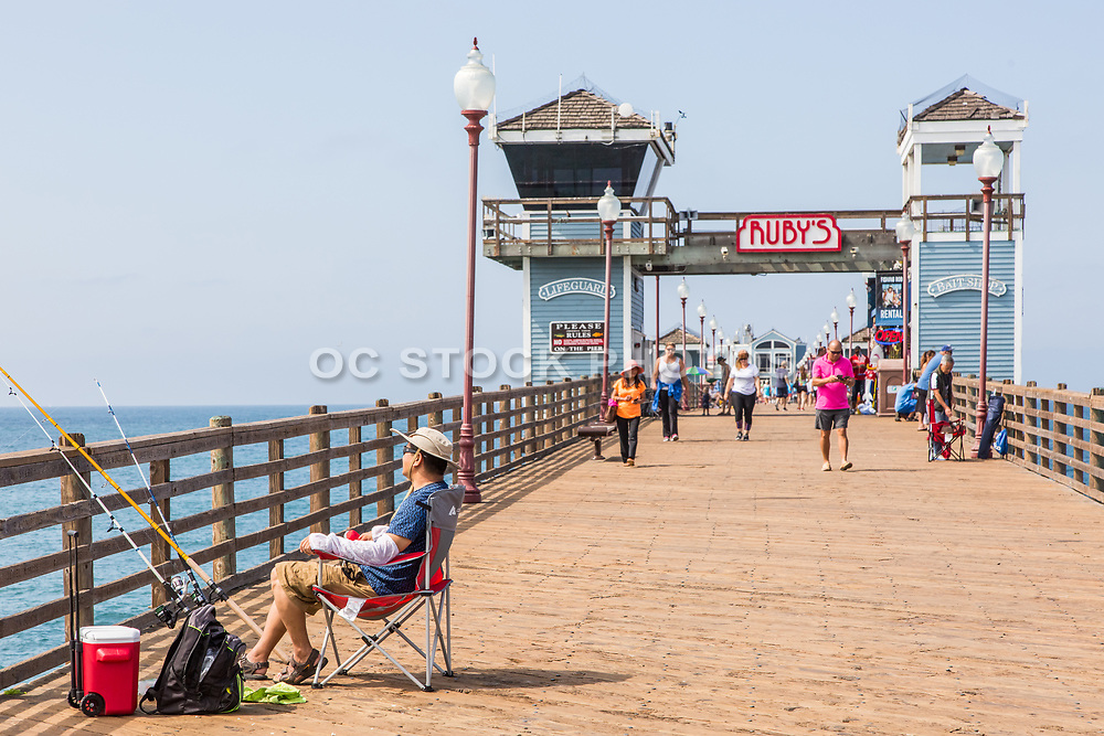 Tourists at Oceanside Pier