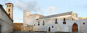 Panoramic view of the Church of the Assumption, built in the Manueline style of late Gothic architecture, 16th century on the left and Grand Mosque, 19th century, on the right, Portuguese Fortified city of Mazagan, El Jadida, Morocco. El Jadida, previously known as Mazagan (Portuguese: Mazag√£o), was seized in 1502 by the Portuguese, and they controlled this city until 1769. Picture by Manuel Cohen