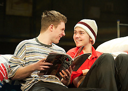 Jake Davies as Jamie. Danny-Boy Hatchard as Ste..Beautiful Thing by Jonathan Harvey, the Art's Theatre, London, Great Britain, April 16, 2013, April 22, 2013. Photo by: Elliott Franks / i-Images