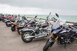© Licensed to London News Pictures. 10/09/2017. Brighton, UK. Thousands of bikers from across Europe take part in the 24th annual Ace Cafe Reunion's Brighton Burn Up ride from the London Ace Cafe to Brighton Madeira Drive. Photo credit: Hugo Michiels/LNP