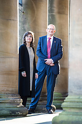 Pictured: Patricia Allerston and Sir John Leighton<br /> <br /> Sir John Leighton, director-general of National Galleries of Scotland; Patricia Allerston, deputy director Scottish National Gallery; and Ben Thomson, chairman of the trustees at National Galleries of Scotland were in attendance as a briefing was given on the redevelopment of the  Scottish National Gallery in Edinburgh. <br /> <br /> Ger Harley | EEm 10 November 2016