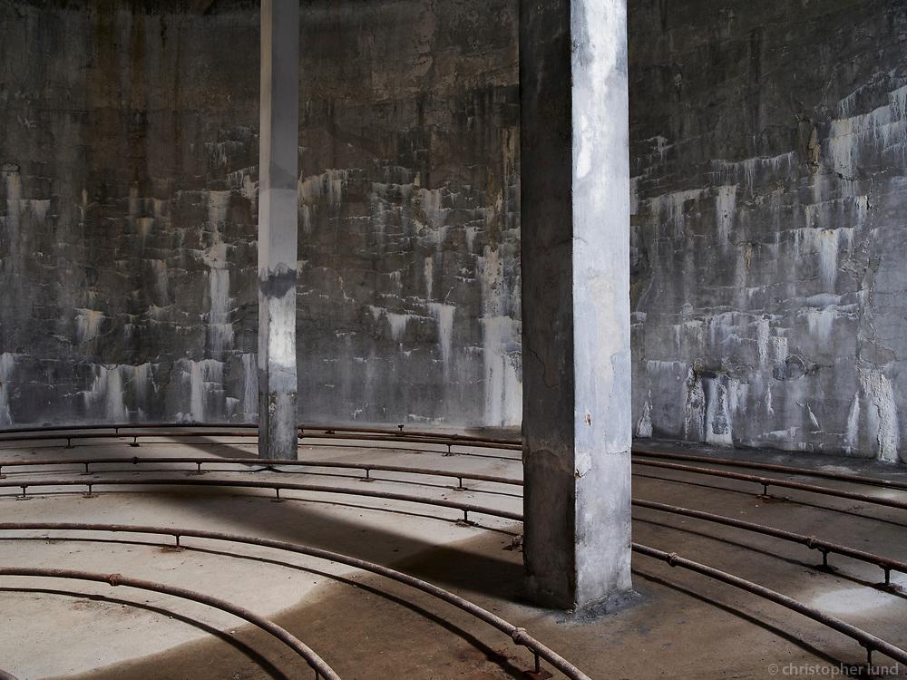 Fish meal silos. From the old Herring Factory in Djúpavík, Strandir, Nortwest Iceland.