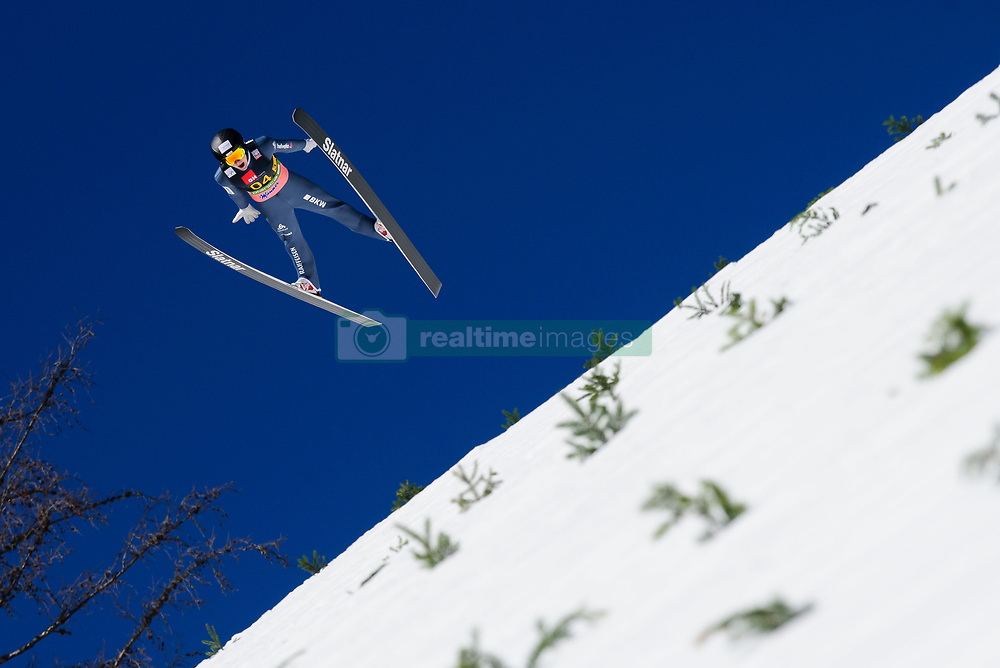 March 23, 2019 - Planica, Slovenia - Dominik Peter of Switzerland in action during the team competition at Planica FIS Ski Jumping World Cup finals  on March 23, 2019 in Planica, Slovenia. (Credit Image: © Rok Rakun/Pacific Press via ZUMA Wire)