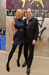 HARRY & BODIL BLAIN at a private view of Refraction. The Image of Sense held at Blain|Southern, Hanover Square, London on 9th December 2014.